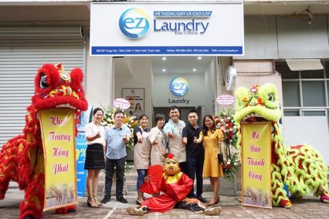 TƯNG BỪNG KHAI TRƯƠNG EZ LAUNDRY CƠ SỞ TRUNG HÒA NHÂN CHÍNH – Hệ thống giặt là cao cấp EZ Laundry